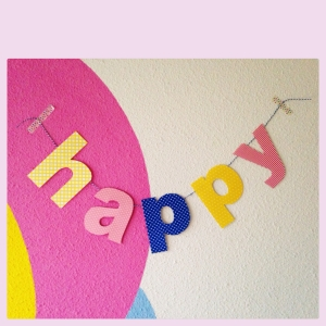 """happy"" paper letter garland"
