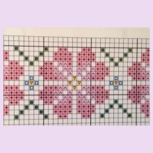 pixelated rose pattern - the beginning
