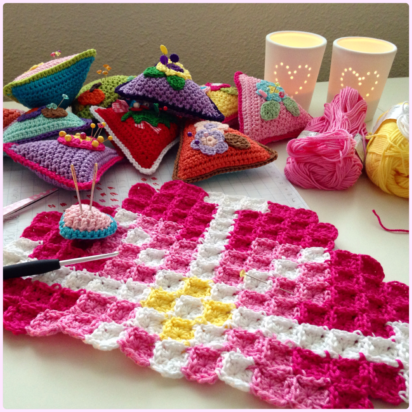 Pixelated Cushion Marrose Colorful Crochet Amp Crafts