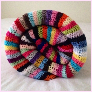 multicolored striped blanket - maRRose CCC