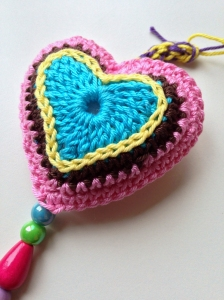 maRRose - CCC, 3 hearts wall hanger