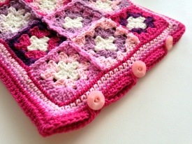 hot water bottle cover in pink