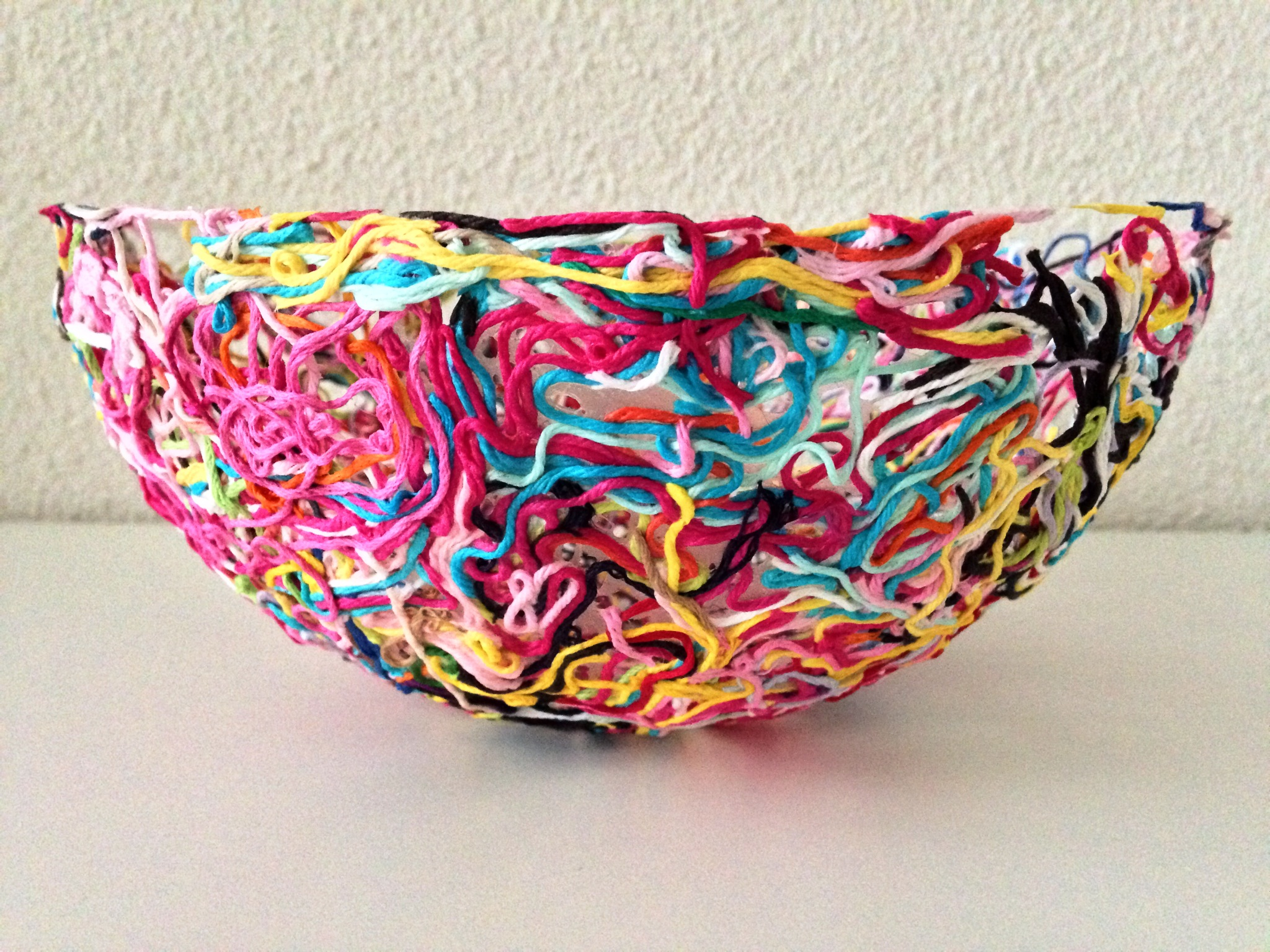 Yarn ends bowl marrose ccc for How to make craft