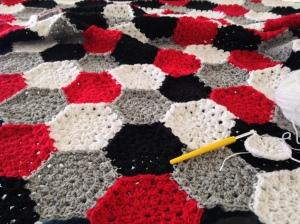 maRRose - CCC: hexagon blanket
