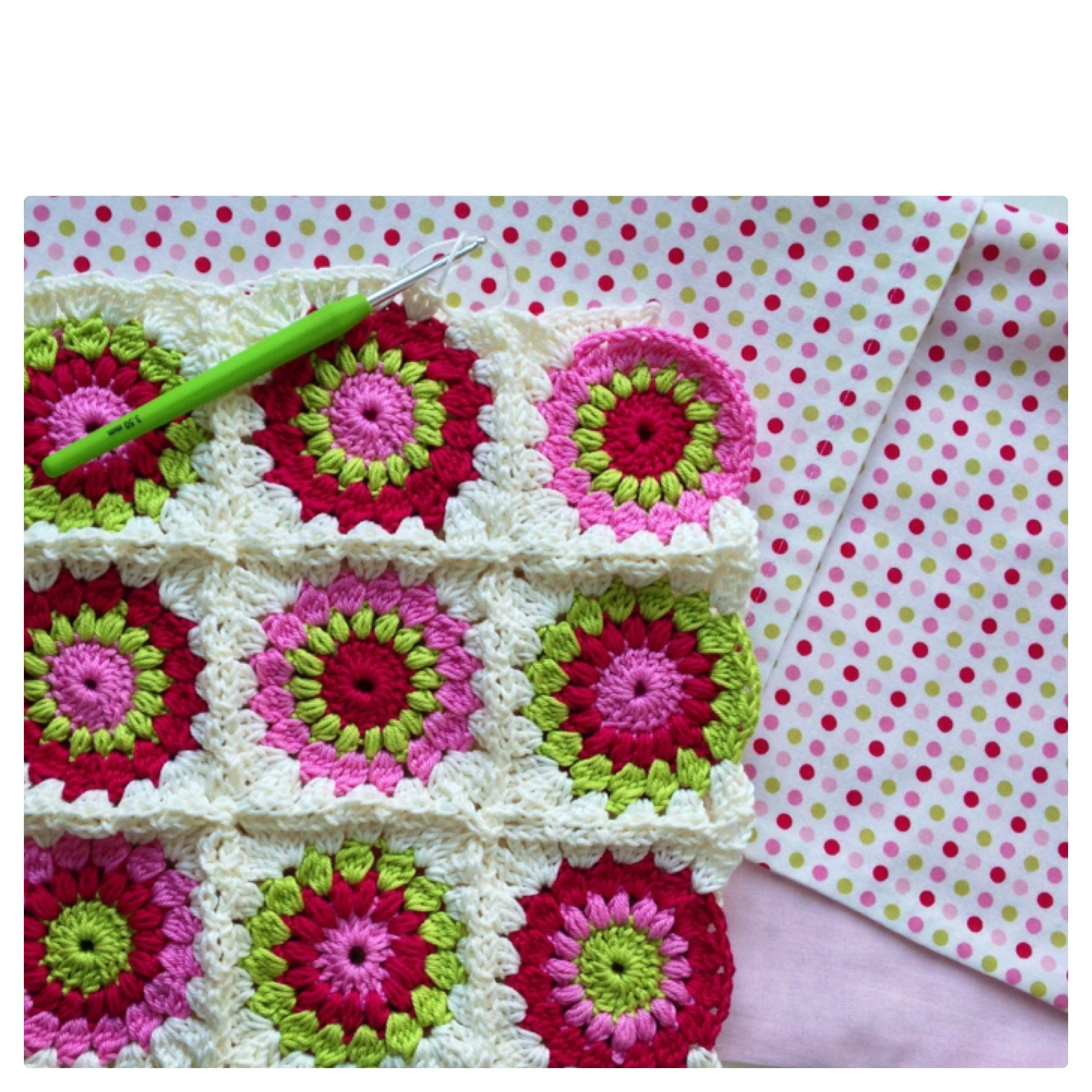 Crochet Pattern Granny Square Pillows : Sunburst Granny Square Cushion maRRose CCC
