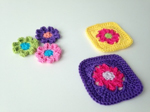 "Granny square ""Rose"" (English and Dutch)"