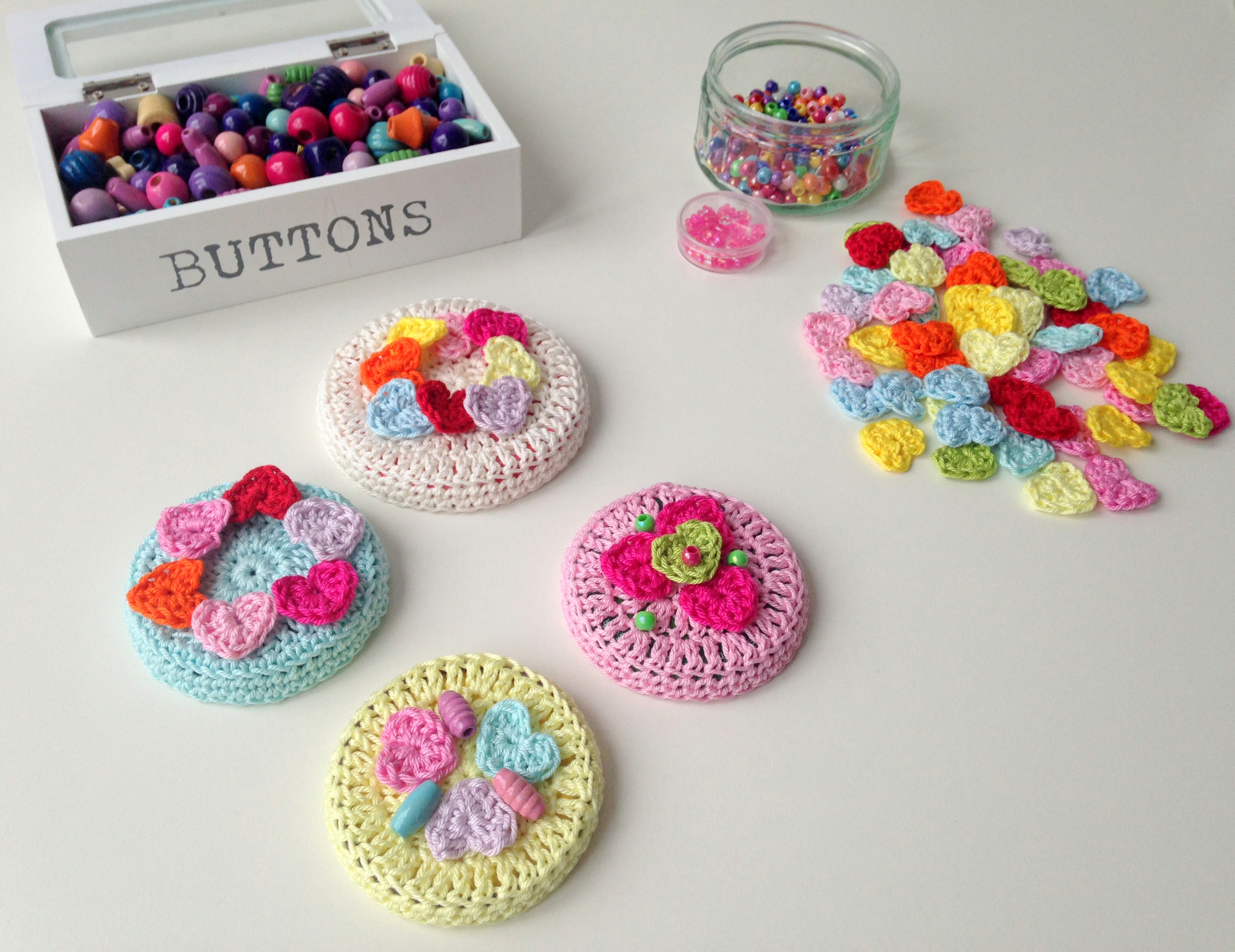 Crocheted Jar Lid Covers maRRose - Colorful Crochet & Crafts