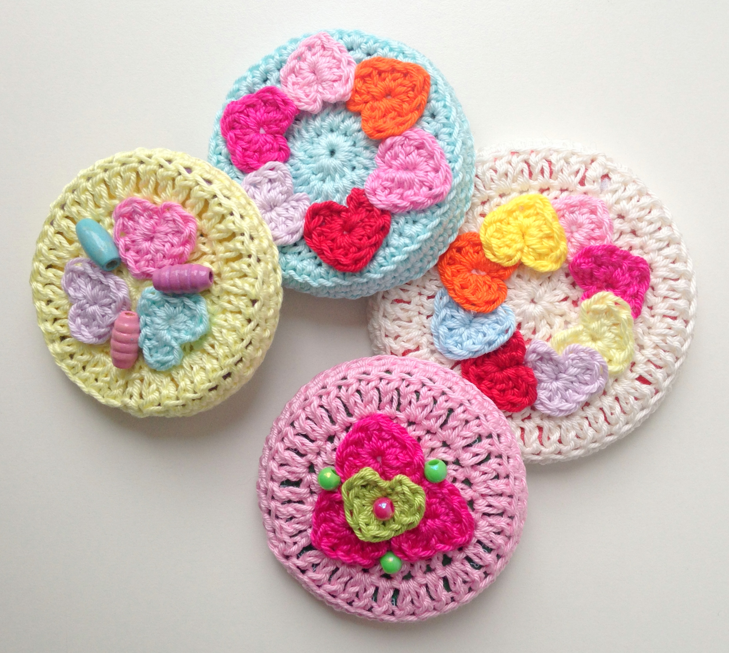 Crochet Patterns Jar Lids : Crocheted Jar Lid Covers maRRose CCC