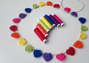 maRRose - CCC:  little rainbow&hearts garland