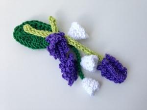 maRRose - CCC --- flower brooch lavender