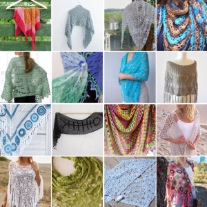 maRRose - CCC --- Treasury Tuesday, Crochet Summer Shawls-collage