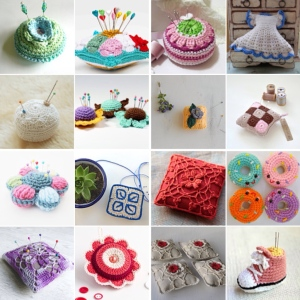 maRRose - CCC --- Treasury Tuesday, Crocheted Pincushions-collage