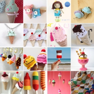 maRRose - CCC --- Treasury Tuesday, Crocheted  Ice Cream-collage