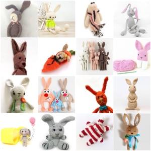 maRRose - CCC --- Treasury Tuesday, Crochet Easter Bunnies-03