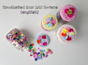 maRRose - CCC - Crocheted Jar Lid Covers - english