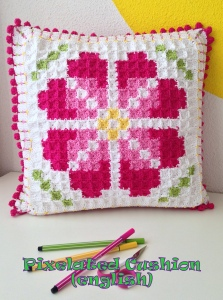 maRRose - CCC pixelated cushion - english