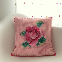 "Follow-up Friday - The ""Tunisian Rose"" Cushion"